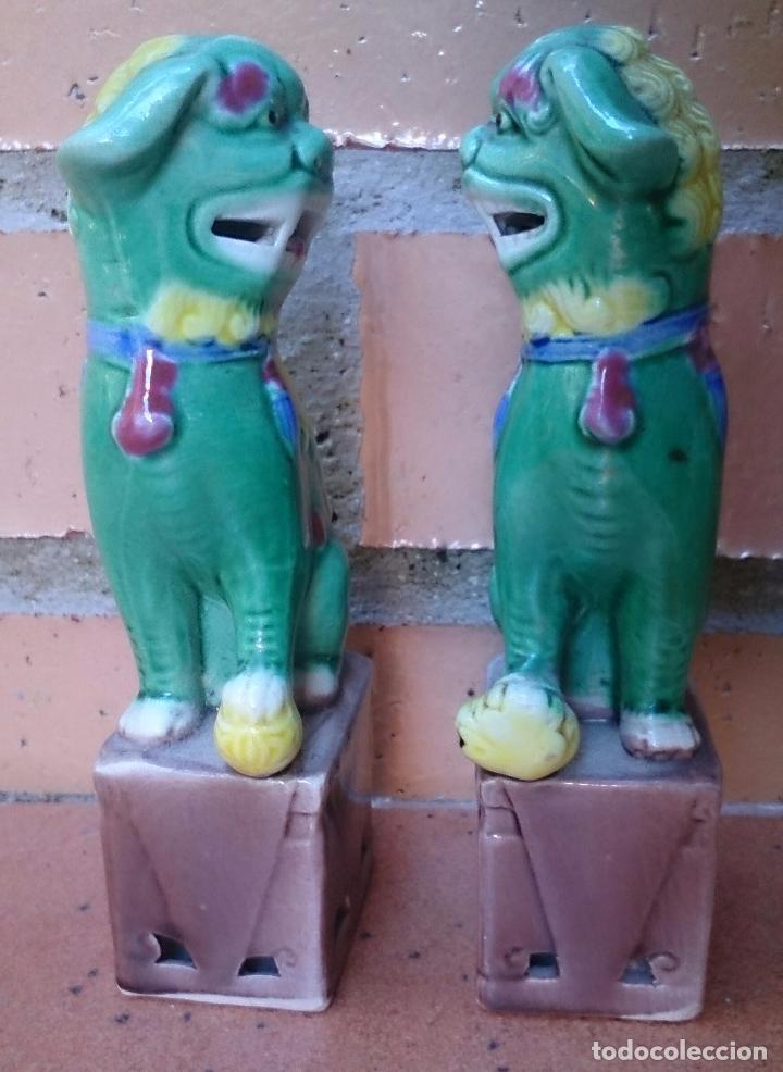Casas de Muñecas: Pareja de perros Foo de porcelana, tamaño casa de muñecas - Foto 4 - 64143767