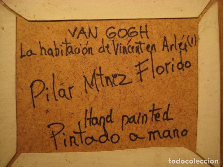 Casas de Muñecas: Cuadro miniatura al óleo pintado a mano. Casas de Muñecas. Habitación de Vincent en Arlés. Van Gogh - Foto 2 - 65259251