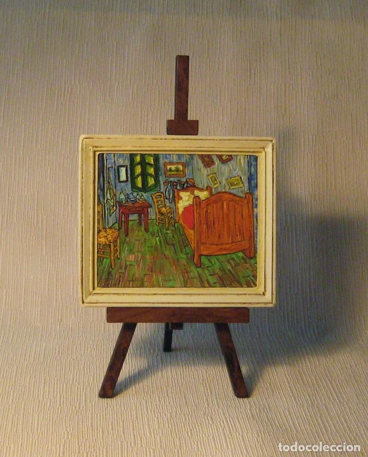 Casas de Muñecas: Cuadro miniatura al óleo pintado a mano. Casas de Muñecas. Habitación de Vincent en Arlés. Van Gogh - Foto 4 - 65259251