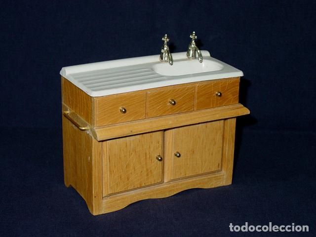 Mueble fregadero cocina o lavabo de ba o 2 grif comprar for Mueble bajo lavabo carrefour