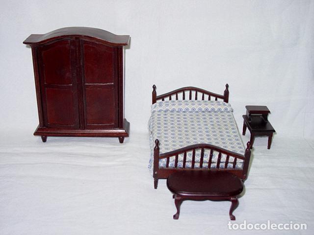 Armario De Caoba Muebles de Casa de Muñecas