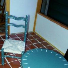 Casas de Muñecas - Silla y mesa casa muñecas andaluza - 77112687