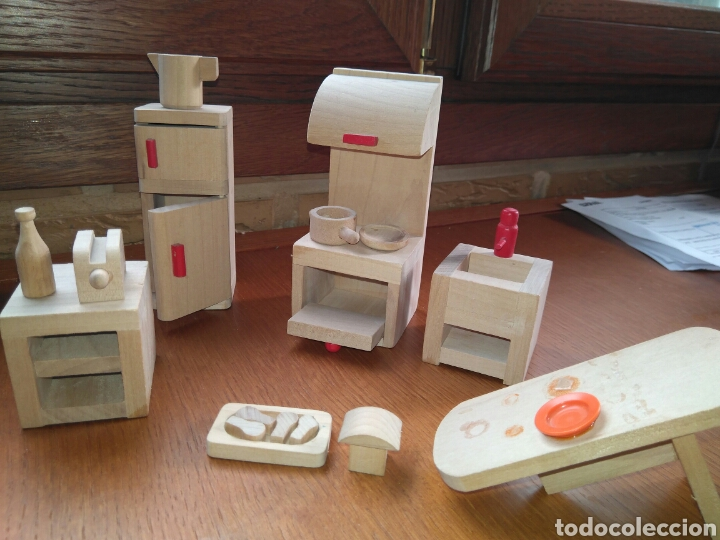 muebles de cocina para casa de muñecas madera - Kaufen Puppenhäuser ...