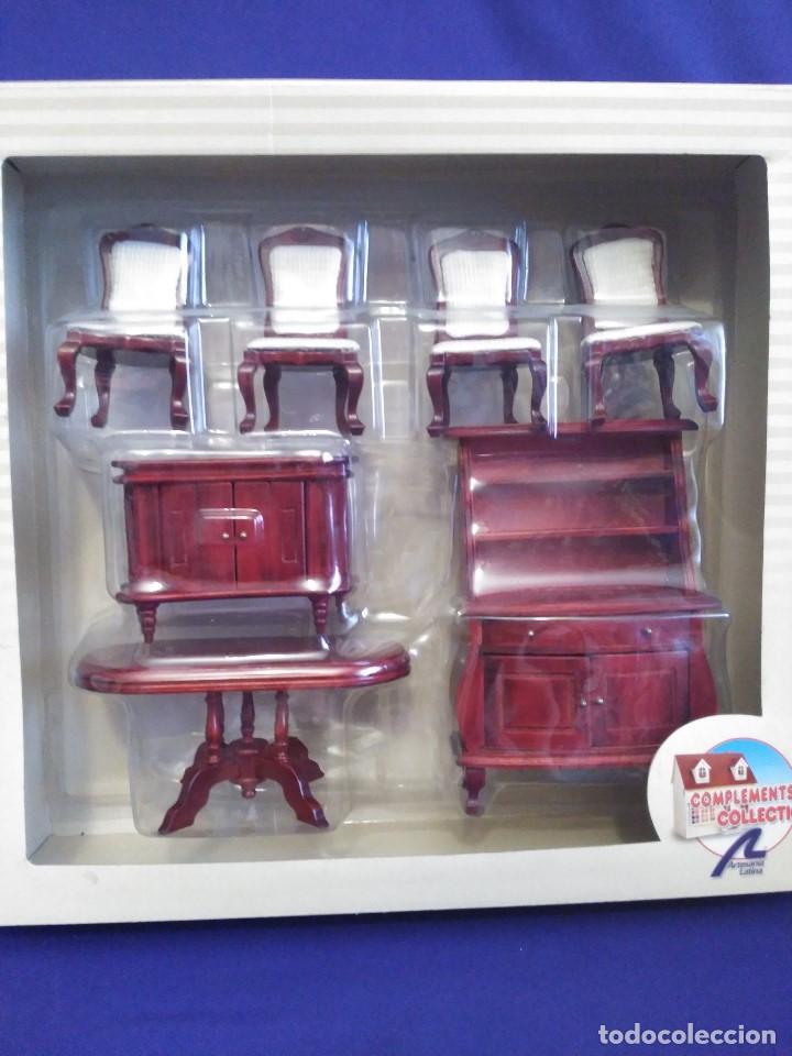 Blister Nuevo De Muebles Miniatura Escala 112 Comprar Casas De - Salon-madera