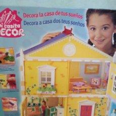 Casas de Muñecas: CASA DE MUÑECAS PARA MONTAR,DECORAR Y VESTIR DE BORRAS. Lote 88846248