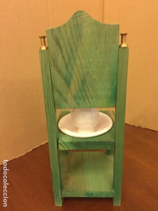 Casas de Muñecas: Pequeño tocador o lavamanos, con aguamanil de ceramica, para casa de muñecas . Mide 23cms de altura - Foto 4 - 121738178