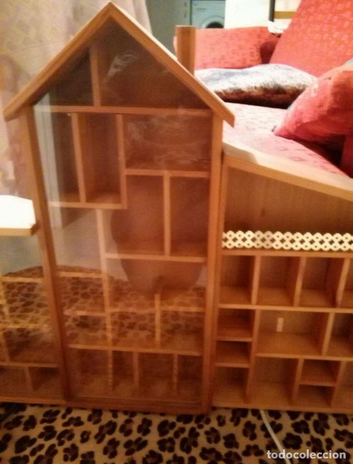 Casas de Muñecas: Expositor casa de madera para miniaturas ( Coleccionismo) - Foto 3 - 94168090