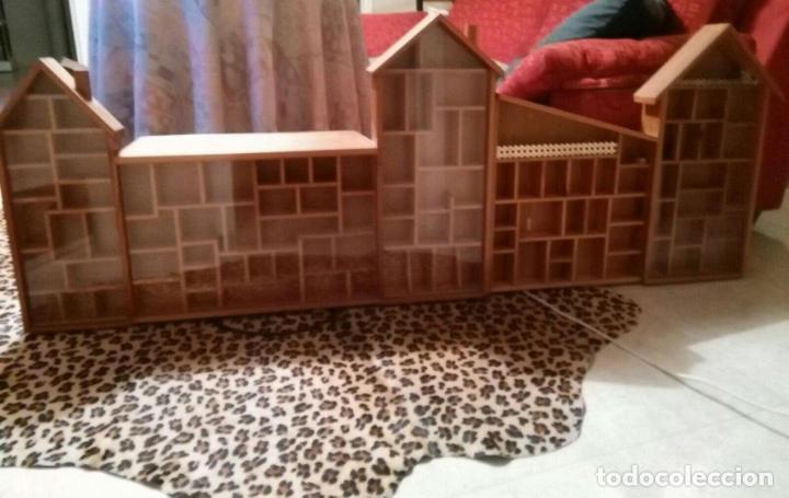 Casas de Muñecas: Expositor casa de madera para miniaturas ( Coleccionismo) - Foto 5 - 94168090