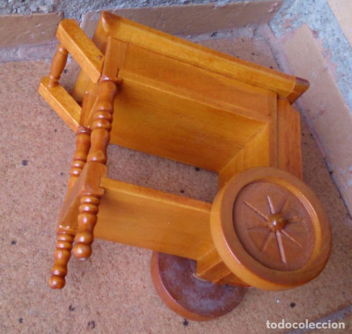 Casas de Muñecas: Mueble casa de muñecas camarera carro bebidas de madera - Foto 3 - 97492411