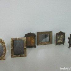 Casas de Muñecas: LOTE PORTAFOTOS - ESPEJOS DE TOCADOR - JUGUETE - MINIATURA - CALAMINA, LATÓN - CASA DE MUÑECAS, ETC. Lote 98143003