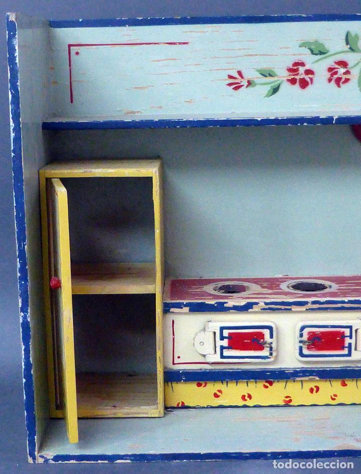 Cocina madera denia habitaci n con muebles a os comprar casas de mu ecas mobiliarios y - Muebles en denia ...