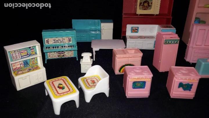 Casas de Muñecas: lote de cocinitas, dormitorio y salón para muñecas. - Foto 4 - 99458783