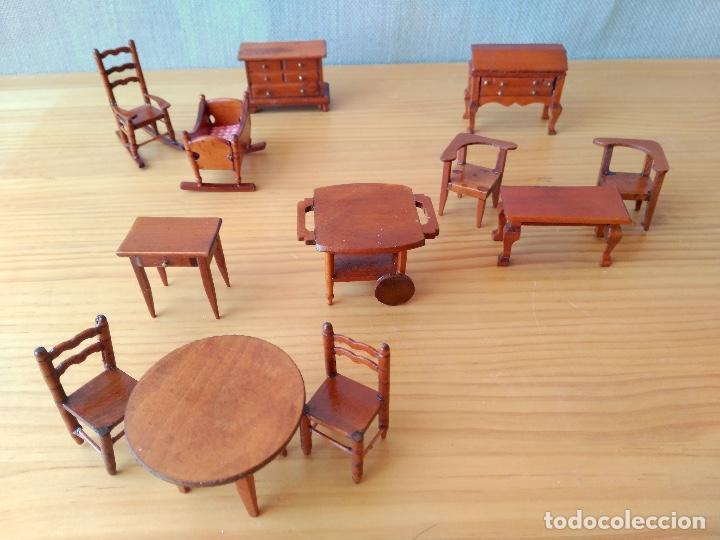 Muebles de madera casa de mu ecas artesanal comprar for Muebles casa de munecas