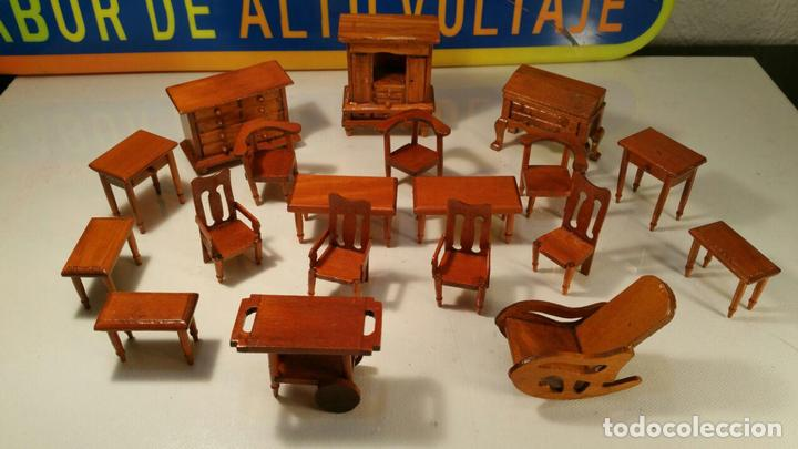 Lote De 19 Muebles Rusticos Para Casa De Muneca Comprar Casas De - Fotos-muebles-rusticos