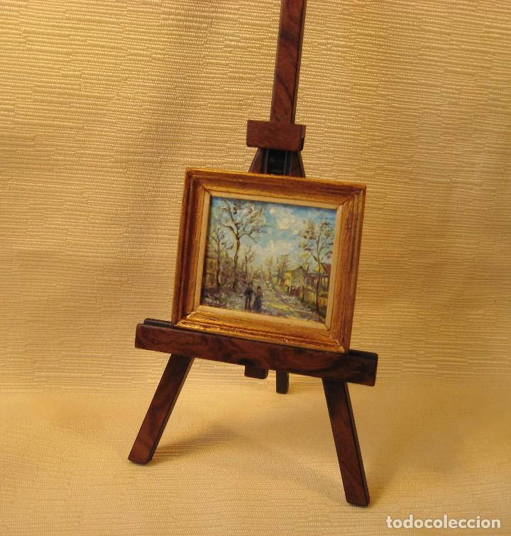 cuadro miniatura pintado al óleo. nº 4. casas d - Comprar Casas de ...