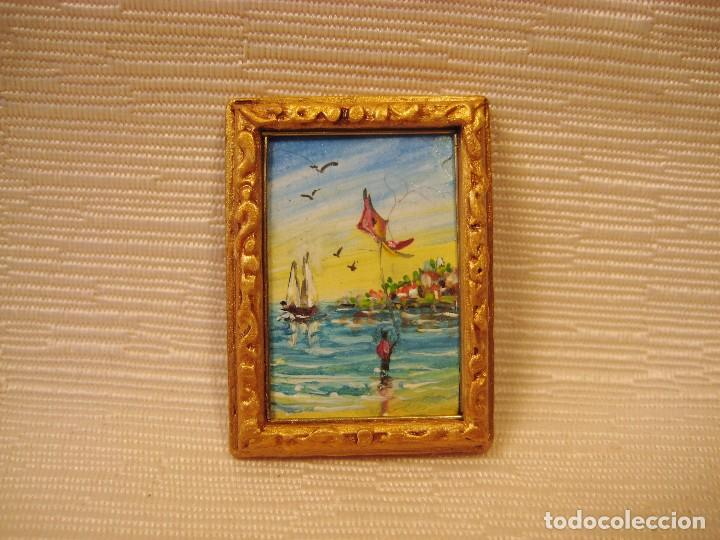 cuadro miniatura pintado al óleo nº 12. marina. - Comprar Casas de ...