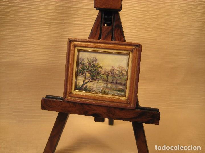 cuadro miniatura pintado al óleo. nº 13. casas - Comprar Casas de ...