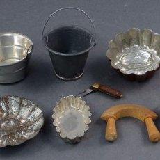 Doll houses - Lote utensilios cocina casa muñecas años 20 - 30 ralladores moldes cubos flanera navaja - 104607111