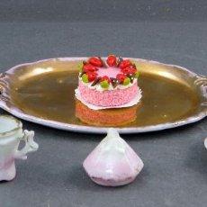 Doll houses - Juego café incompleto casa muñecas años 20 - 30 bandeja tarta plato azucarero lechera dos tazas - 104612659