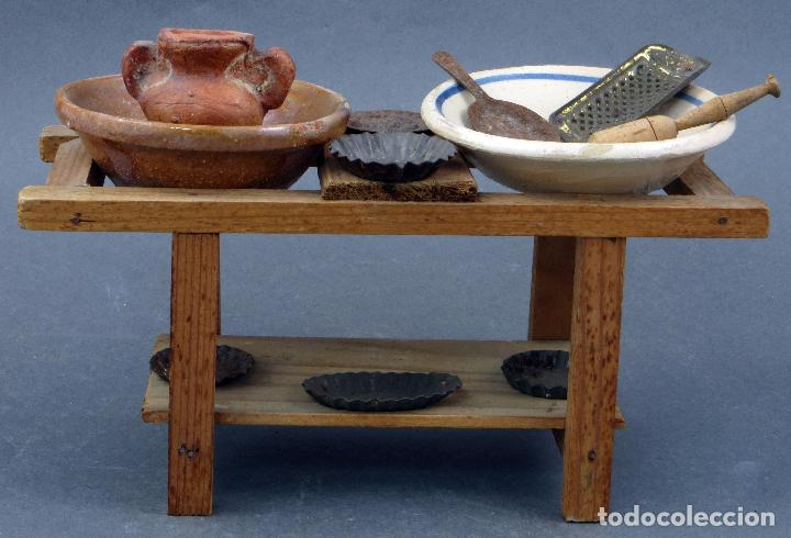 mesa cocina madera con lebrillos cerámica y ute - Comprar Casas de ...