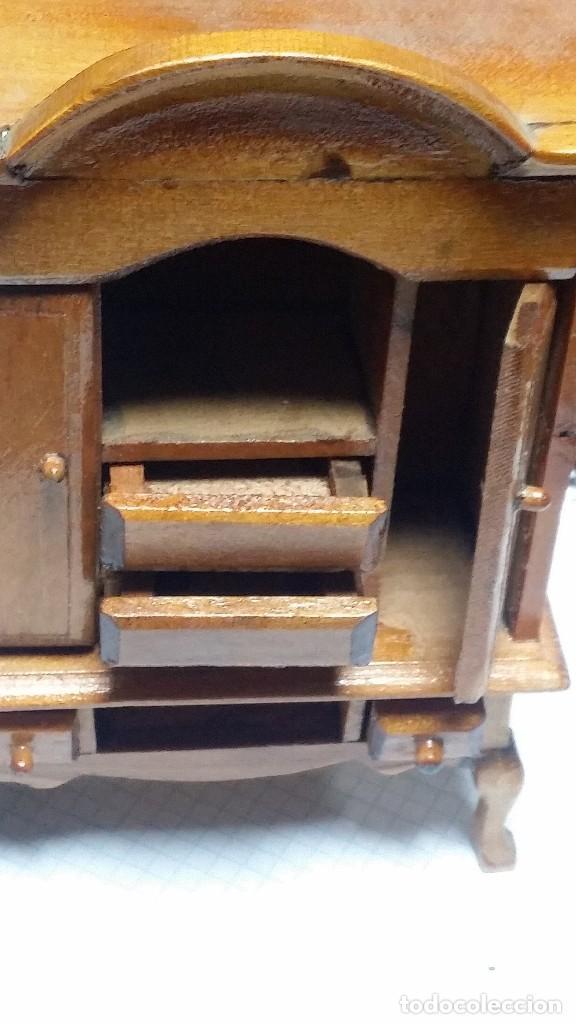 Casas de Muñecas: mueble comedor madera miniatura - Foto 2 - 105807815
