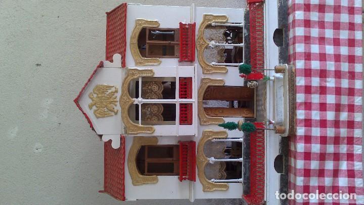 Casas de Muñecas: Casa de muñecas con mobiliario original, años 30/40. 77x51x79cm - Foto 2 - 115860559
