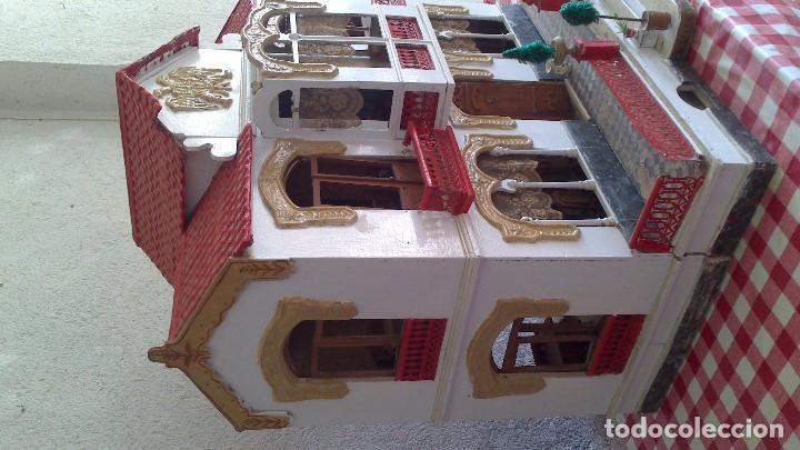 Casas de Muñecas: Casa de muñecas con mobiliario original, años 30/40. 77x51x79cm - Foto 3 - 115860559