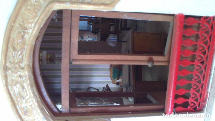 Casas de Muñecas: Casa de muñecas con mobiliario original, años 30/40. 77x51x79cm - Foto 9 - 115860559