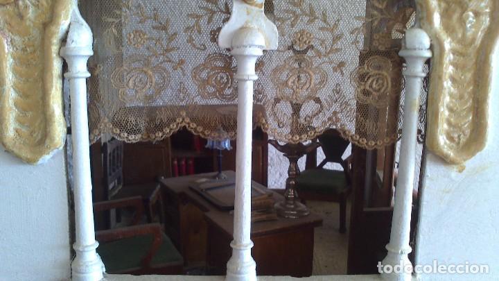 Casas de Muñecas: Casa de muñecas con mobiliario original, años 30/40. 77x51x79cm - Foto 10 - 115860559