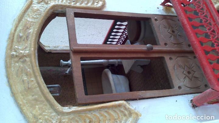 Casas de Muñecas: Casa de muñecas con mobiliario original, años 30/40. 77x51x79cm - Foto 13 - 115860559