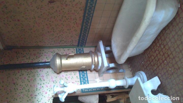 Casas de Muñecas: Casa de muñecas con mobiliario original, años 30/40. 77x51x79cm - Foto 15 - 115860559