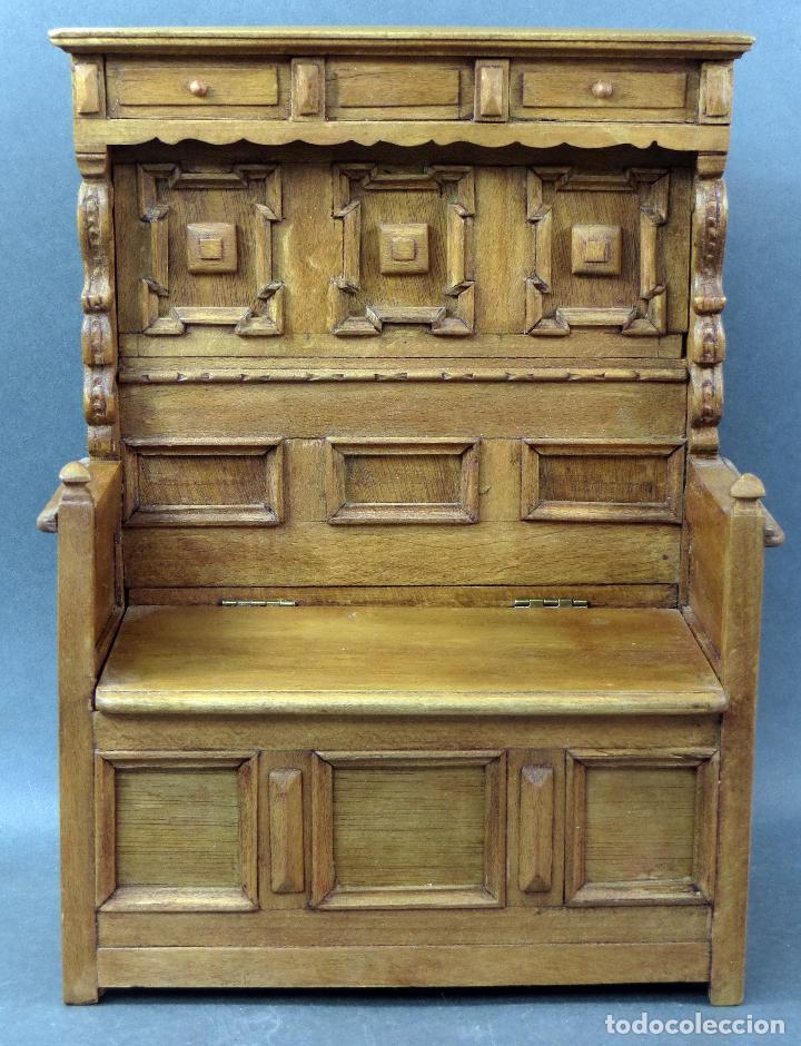 Arquibanco madera arc n y banco para casa mu ec comprar for Banco arcon madera