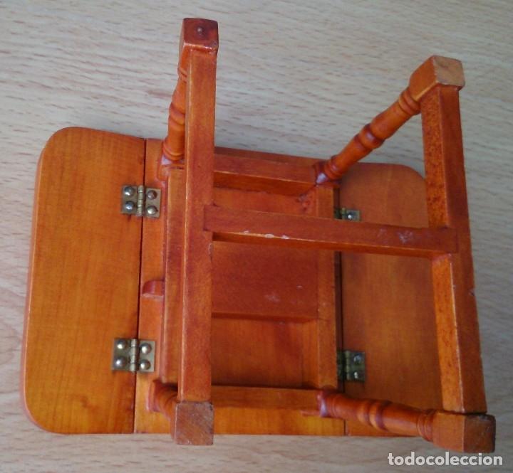 Casas de Muñecas: Mesa de madera plegable miniatura - Foto 2 - 120227487