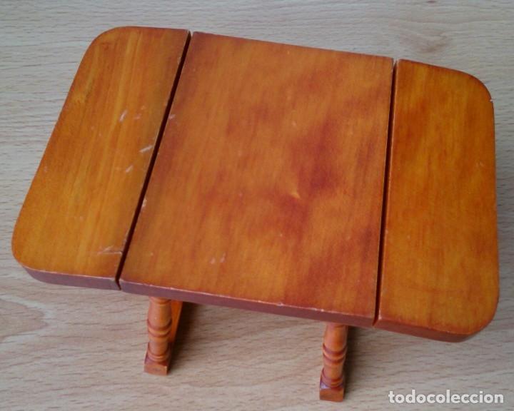 Casas de Muñecas: Mesa de madera plegable miniatura - Foto 3 - 120227487