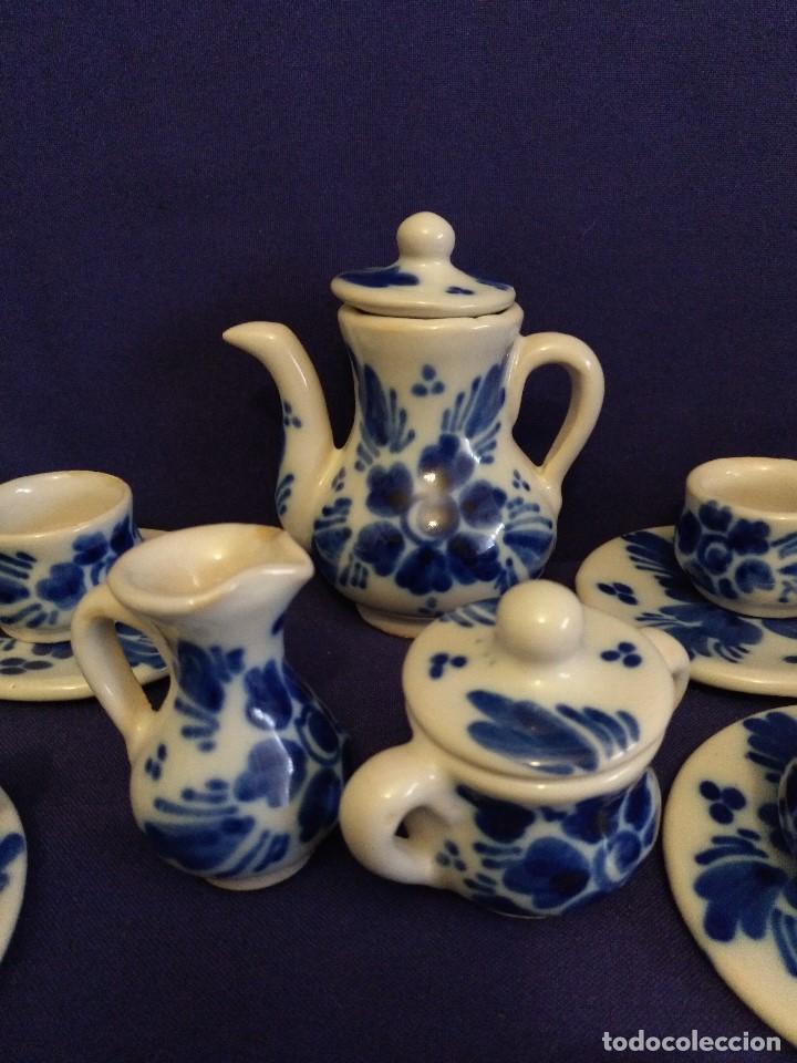 Casas de Muñecas: Juego de cafe miniatura ceramica o porcelana antiguo. - Foto 2 - 122609351