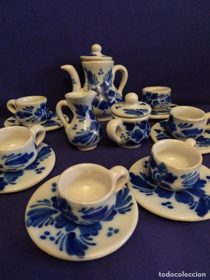 Casas de Muñecas: Juego de cafe miniatura ceramica o porcelana antiguo. - Foto 3 - 122609351