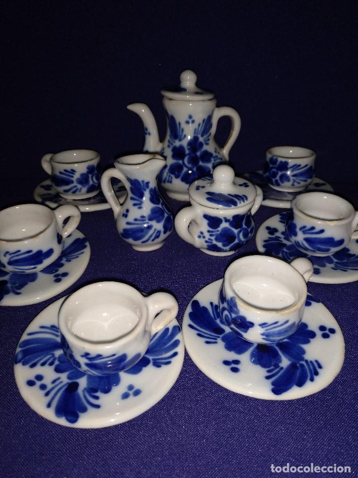 Casas de Muñecas: Juego de cafe miniatura ceramica o porcelana antiguo. - Foto 4 - 122609351