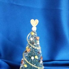 Doll houses - Árbol de Navidad artesanal en miniatura para casa de muñecas escala 1/12 - 123483215