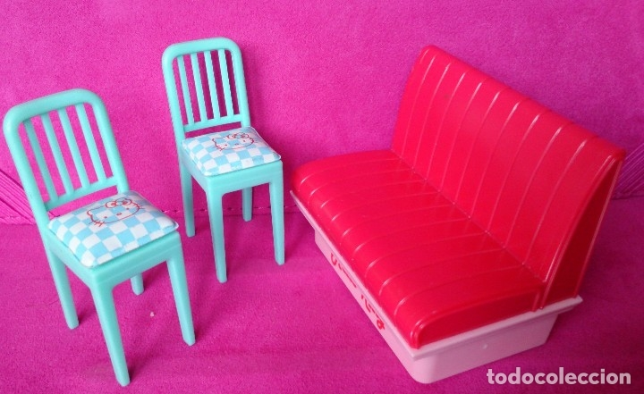 Casas de Muñecas: Lote muebles cocina originales casa de muñecas Hello Kitty - Foto 2 - 126004671
