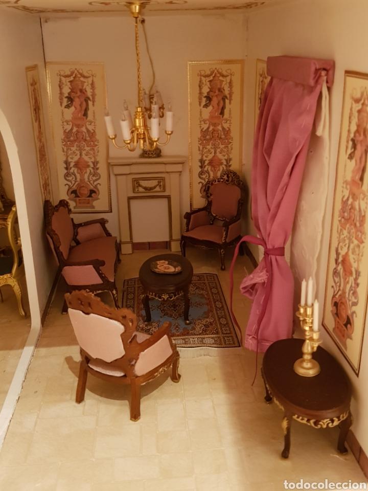 Puppenhäuser: PALACIO DE MUÑECAS.ENORME PALACIO.CON MUCHISIMOS ACCESORIOS.MUY COMPLETA.ORIGINAL. - Foto 12 - 127257508