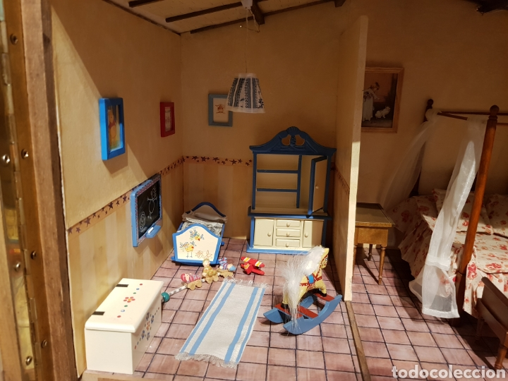 Casas de Muñecas: CASA MEDITERRANEA DE MUÑECAS. ENORME.75X55.CON MUCHISIMOS ACCESORIOS.GRAN ESTADO. - Foto 3 - 127259476