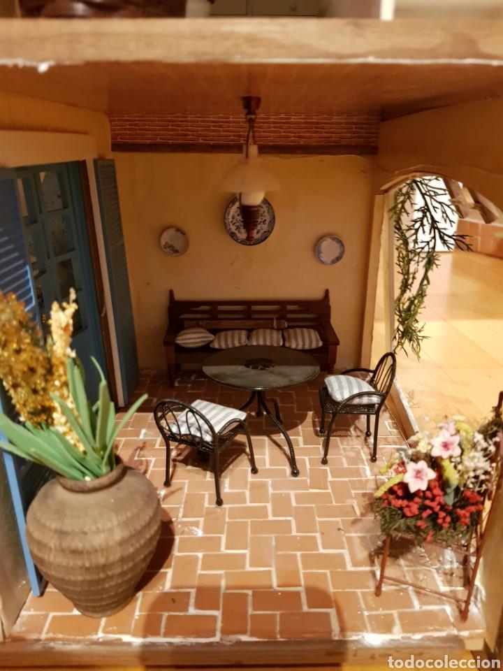 Casas de Muñecas: CASA MEDITERRANEA DE MUÑECAS. ENORME.75X55.CON MUCHISIMOS ACCESORIOS.GRAN ESTADO. - Foto 6 - 127259476