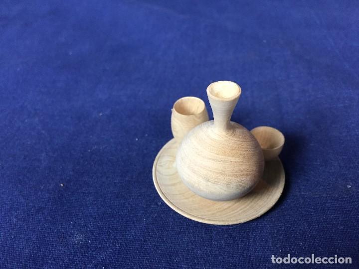 Casas de Muñecas: pequeño conjunto casa de muñecas en madera torneada plato vaso cuenco jarra ppio s XX - Foto 11 - 130171615