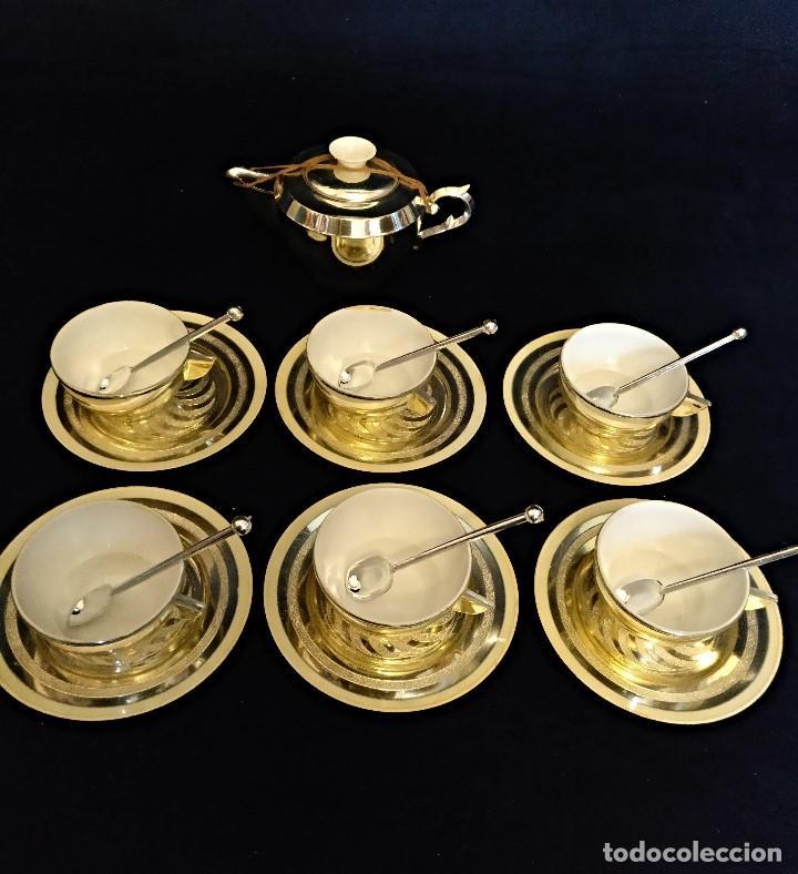 CACHARRITOS O JUEGO DE CAFE DE JUGUETE DE LOS AÑOS 60. (Juguetes - Casas de Muñecas, mobiliarios y complementos)