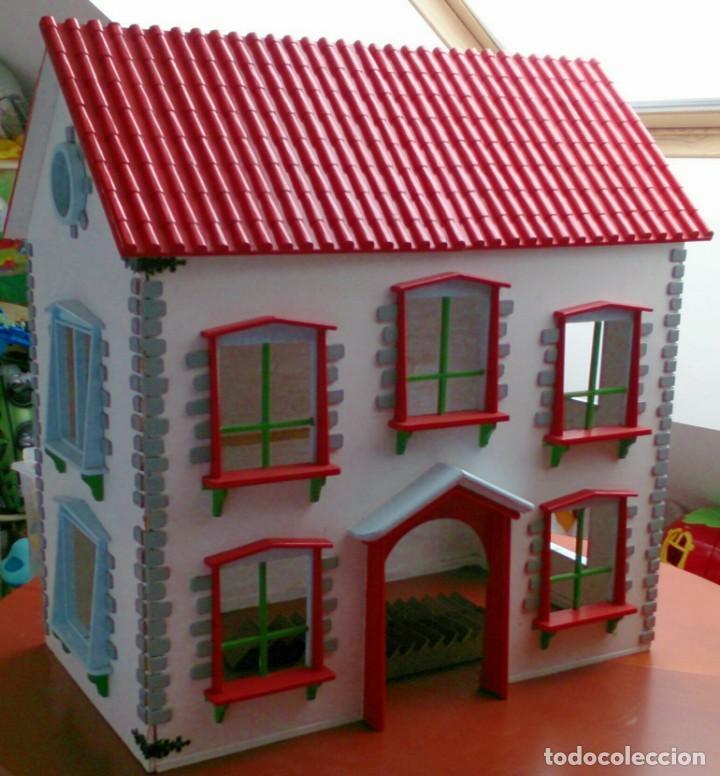 GRAN CASA DE MUÑECAS FABRICADA A MANO EN LOS AÑOS 70 (Juguetes - Casas de Muñecas, mobiliarios y complementos)