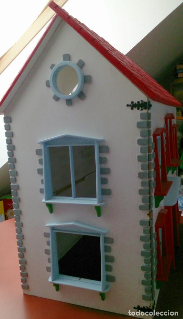 Casas de Muñecas: Gran casa de muñecas fabricada a mano en los años 70 - Foto 2 - 131490058