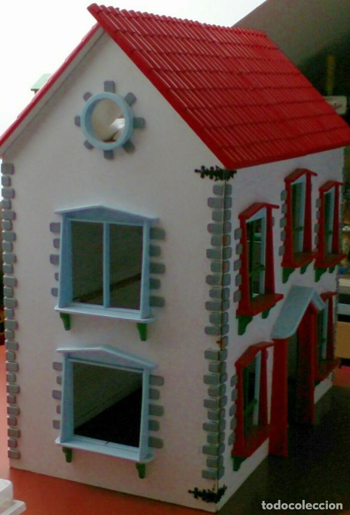 Casas de Muñecas: Gran casa de muñecas fabricada a mano en los años 70 - Foto 3 - 131490058