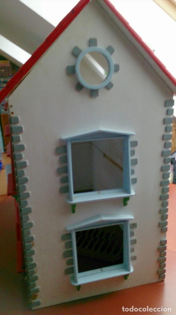 Casas de Muñecas: Gran casa de muñecas fabricada a mano en los años 70 - Foto 4 - 131490058