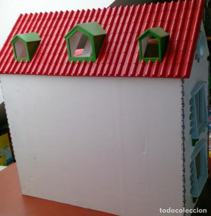 Casas de Muñecas: Gran casa de muñecas fabricada a mano en los años 70 - Foto 9 - 131490058
