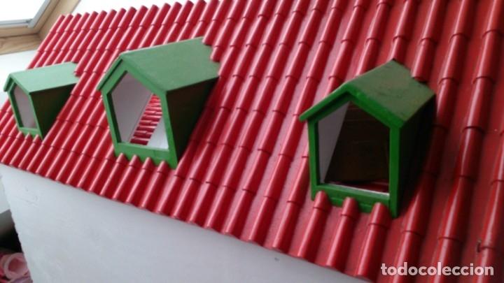 Casas de Muñecas: Gran casa de muñecas fabricada a mano en los años 70 - Foto 10 - 131490058